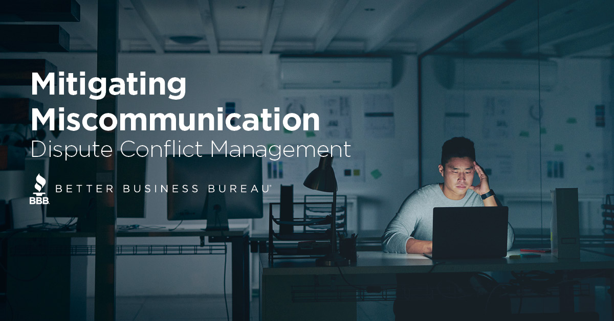 Mitigating Miscommunication: Dispute Conflict Management