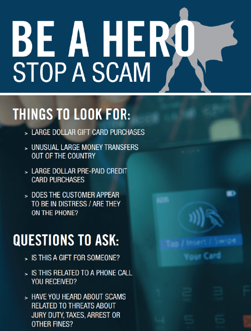 Be a hero stop a scam