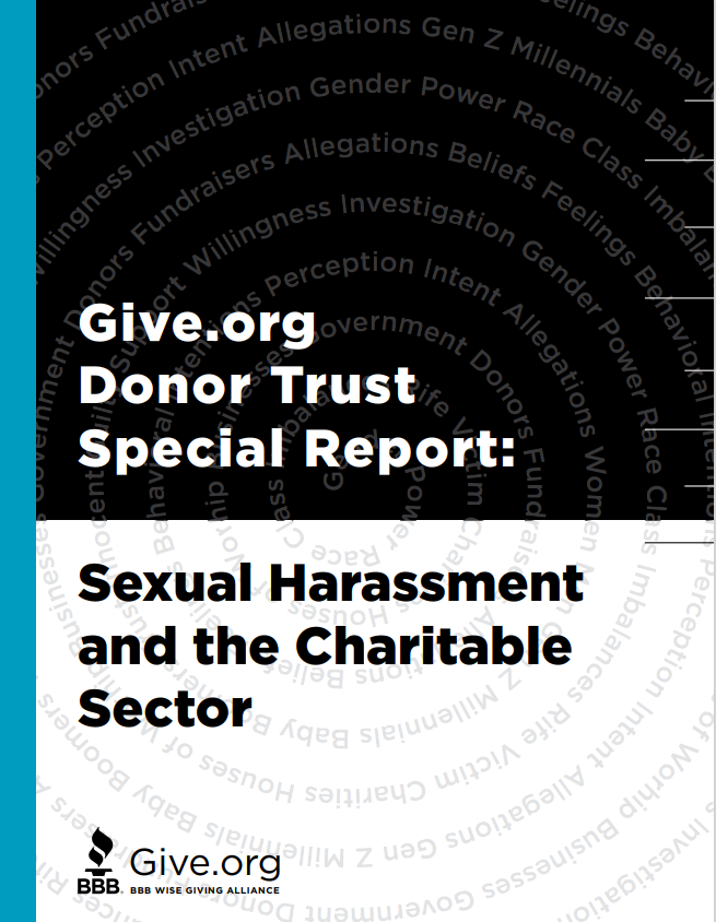 Give.org sexual harassment