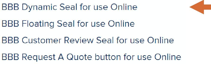 BBB digital seal types